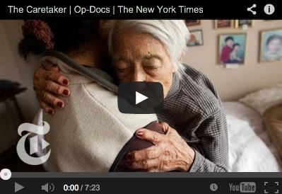 The Caretaker Live in Caregiver Elderly New York Times Op Doc