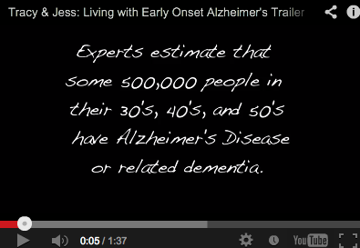 Dementia Film Tracy & Jess: Living with Early Onset Alzheimer's